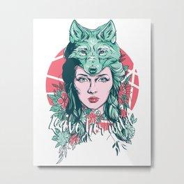 Leave her wild Metal Print
