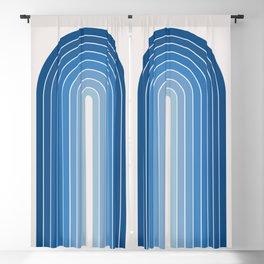 Gradient Arch - Blue Tones Blackout Curtain