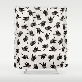 Blackbirds Flying Shower Curtain