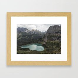 Grinnell Lake from the Trail No. 2 - Glacier NP Framed Art Print