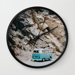 Classic Campervan Adventures Wall Clock