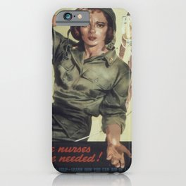 Vintage poster - More Nurses are Needed iPhone Case