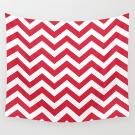 Red Chevron Pattern. Colorful zig zag stripe desig Wall Tapestry