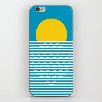 sunrise iPhone & iPod Skins featuring Sunrise by FLATOWL