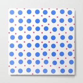 Big Blue Dots Pattern Metal Print