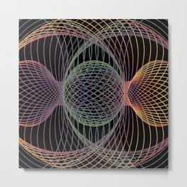 Elliptic Rotations, Day-glow Pop Poster Art Metal Print