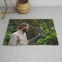 Zoo Keeper And The Owl Rug