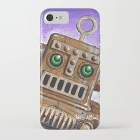 steam punk iPhone & iPod Cases featuring i.Friend: Steam Punk Robot by CHRIS MASON