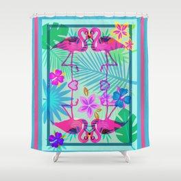 Flamingo Dance Shower Curtain