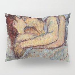 Henri De Toulouse Lautrec In Bed The Kiss Painting Pillow Sham