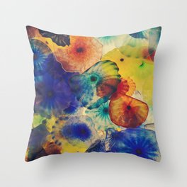 Color and natural shapes in the ceiling of a Casino Throw Pillow