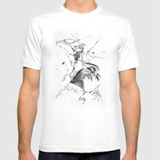Line 1 Mens Fitted Tee White MEDIUM