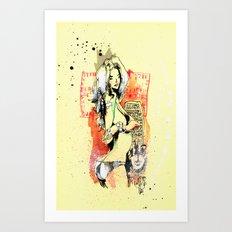QUEEN OF TRIANGLES Art Print