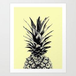 Pineapple in yellow Art Print