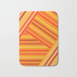 Orange - yellow stripes Bath Mat
