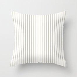 Silver Moss Pinstripe on White Throw Pillow
