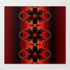 Floral Ribbon Canvas Print