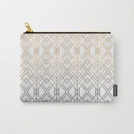 Gold And Grey Geo Carry-All Pouch
