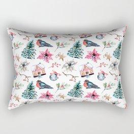 Christmas watercolor pattern. Rectangular Pillow