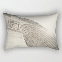 Bathed in sunlight at the Notre Dame, Paris, France Rectangular Pillow