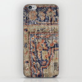 Vintage Woven Navy Blue and Tan Kilim  iPhone Skin