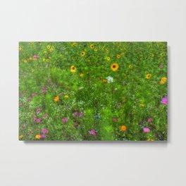 Colorful Field of Wildflowers Metal Print