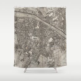 Vintage Map of Florence Italy (1847) Shower Curtain