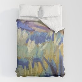 Dreamy Abstract Flowers Painting Comforters