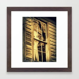 Window Dressing Framed Art Print