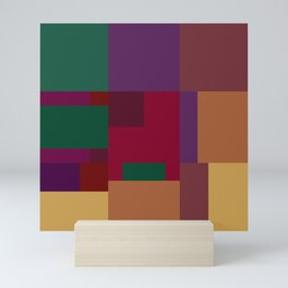 Jewel tones abstract geometric II Mini Art Print