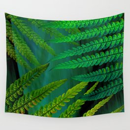 Forest Fern Green Wall Tapestry