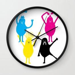 It's fun to print in CMYK Wall Clock
