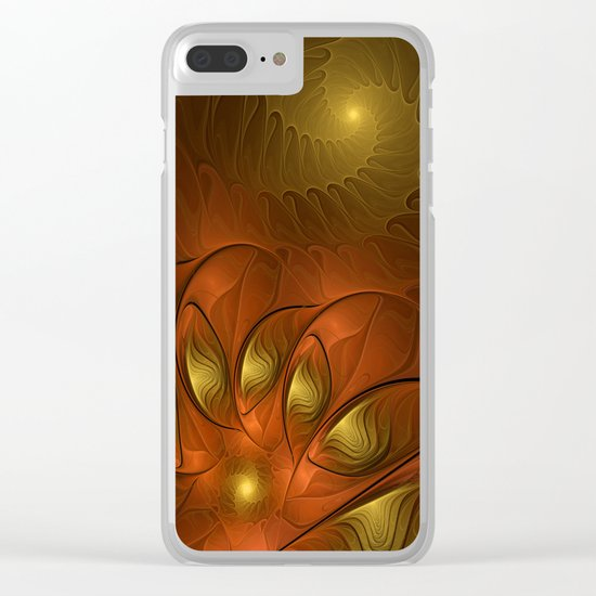 Fantasy in Copper and Gold Clear iPhone Case