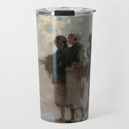 Fishing for Oysters at Cancale - John Sargent Travel Mug