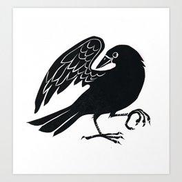 Dancing Crow Art Print