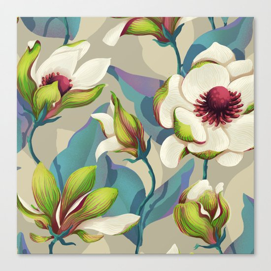 magnolia bloom - vivid version Canvas Print