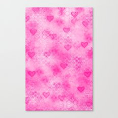 Pink Hearted Canvas Print