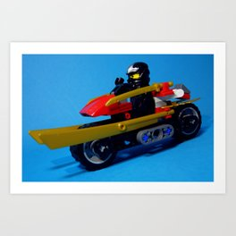 Cole with motorcar Art Print