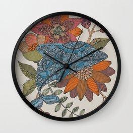Blue delphin Wall Clock