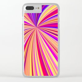 Colorful Star lines - DDF660 Clear iPhone Case