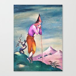 Eugeniusz Zak - Landscape with a wanderer - Digital Remastered Edition Canvas Print