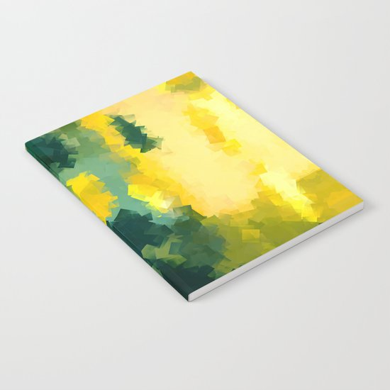 Squares Pattern #Yellow #Green #Mint #2 Notebook
