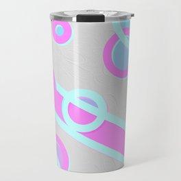 design in pastel tones -7a- Travel Mug