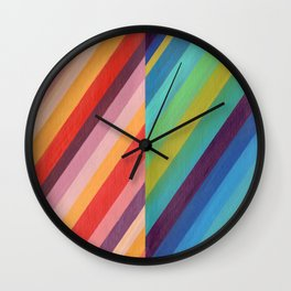 Stripey Hues Wall Clock