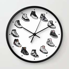 Sneaker wall clock (black & white) Wall Clock