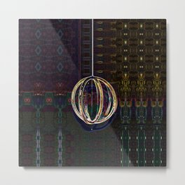 Bubble Globe Metal Print