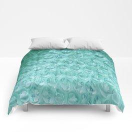 Aqua Bubble Wrap Comforters