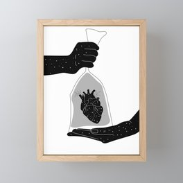 My heart beats for you Framed Mini Art Print