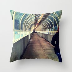 Onward Into The Tunnel Forbidden  Throw Pillow