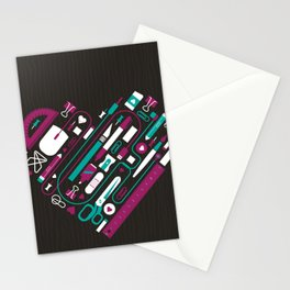 I Heart Work Stationery Cards